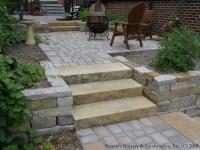 Complete Backyard Renovation... Kasota Natural Stone Steps ...