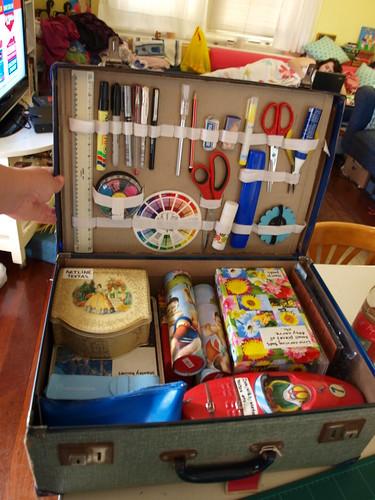 Suitcase for art storage