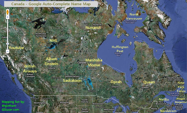 Canada According to Google Auto Complete funny O Canada