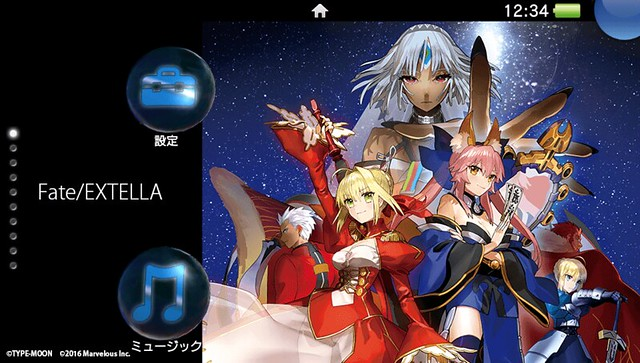 Fate/EXTELlA PS4テーマ