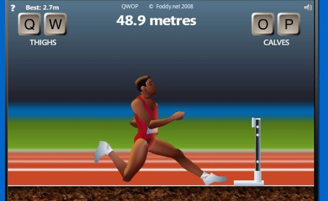 Qwop 2 48 9 Metres Crap There S A Hurdle By