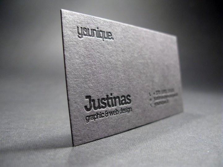 Black Letterpress Business Card