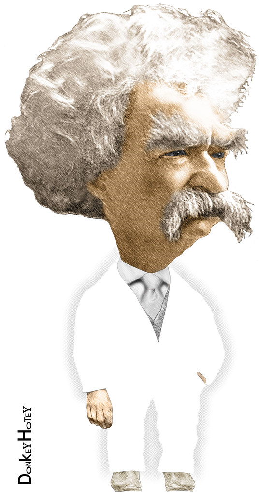 image of Mark Twain created by Flickr user DonkeyHotey