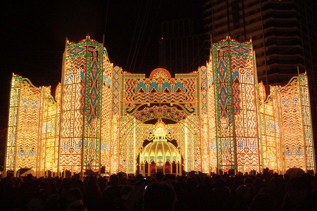 La fortezza luminosa @ Kobe Luminarie (Il cuore nella luce)