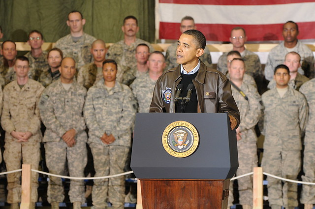 President Obama makes surprise visit to Bagram Airfield [Image 12 of 13]