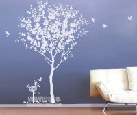 white tree with birds wall decals | Flickr - Photo Sharing!