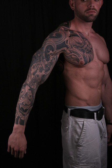 oriental-tattoo-sleeve-chest-six-pack-abs