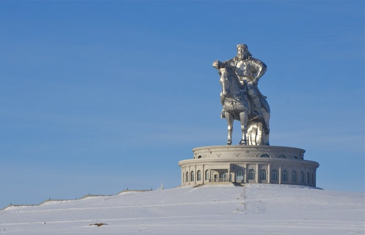 Chingis Khaan monument in the winter