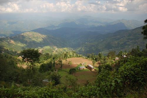 panoramic view outside Kathmandu, Nepal