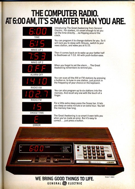 GE Computer Radio - 1979
