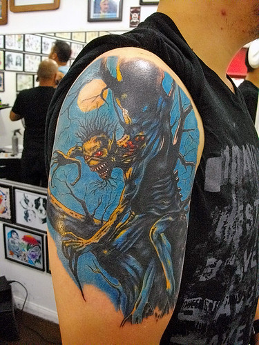 Hd Wallpaper Girl In Christmas Lights Gallery Iron Maiden Number Of The Beast Tattoos