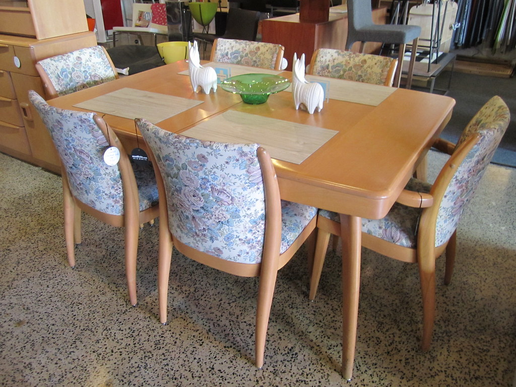 Heywood Wakefield Dining Chairs Heywood Wakefield Dining Table Upholstered Chairs Flickr