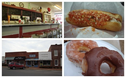 Payne's Red Slaw Dogs and Variety Bake Shop Doughnuts, Scottsboro AL