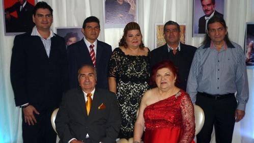 Raul e Laura Loureiro com os filhos Emano, Renato, Soyan, Sergio e Manoel Loureiro
