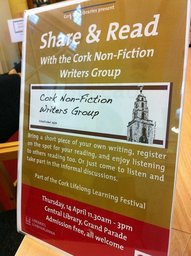 Open Day with Cork Non-Fiction Writers at Cork City Library on Grand Parade
