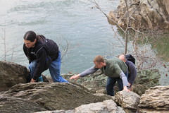 Billy Goat Trail - Greg, Ryan and Ryan Climb Rock Wall