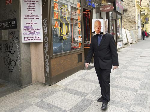 Václav Klaus sbírá propisky