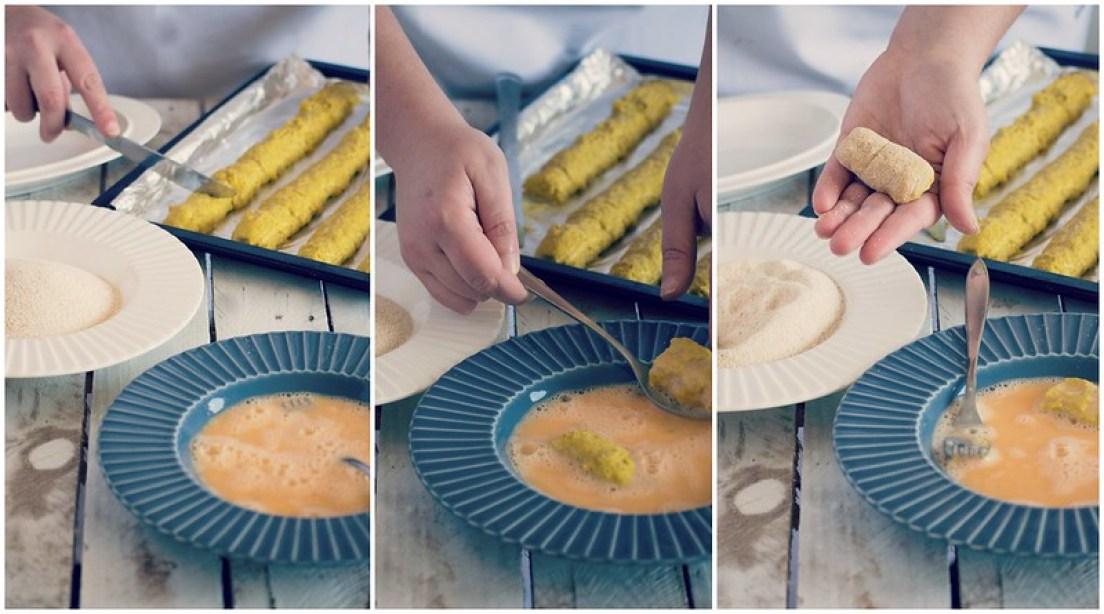 croquetas de coliflor y curry