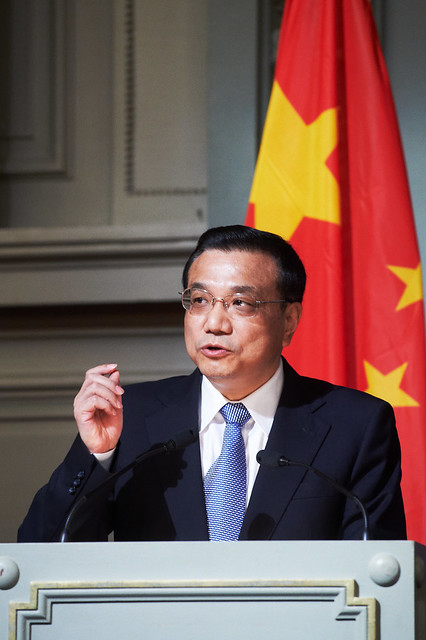 Chinese Vice Premier Li Keqiang speaks on urbanisation at a high-level conference co-organised by Friends of Europe