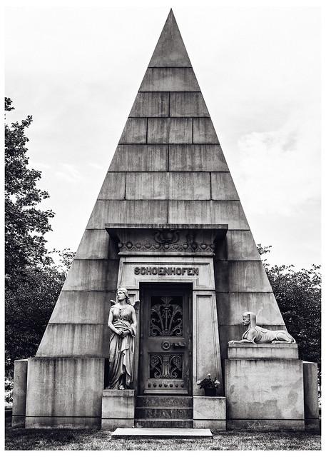 Schoenhofen Pyramid Mausoleum Duotoned