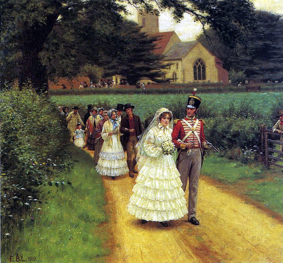 Image result for regency era wedding march painting