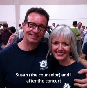 Susan and I after the reunion concert