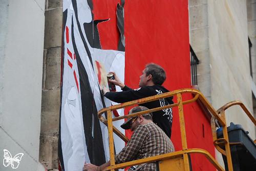 Shepard Fairey - Obey wall in Paris