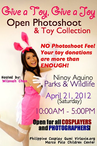 Give A Toy Open Photoshoot & Toy Collection April 2012 Nino Aquino Parks & Wildlife
