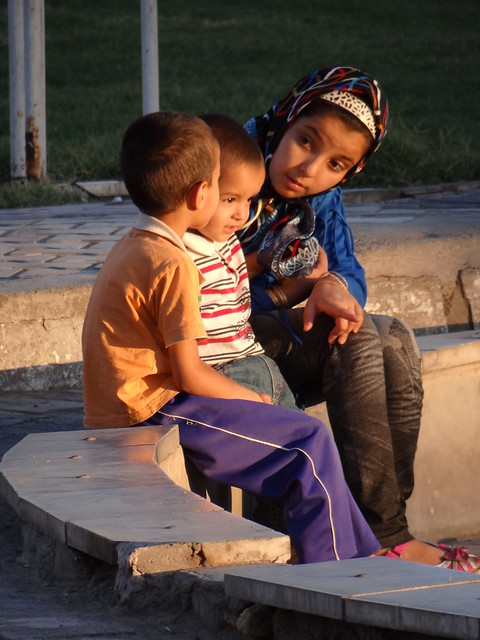 Children in Park at Sunset - Yazd - Central Iran