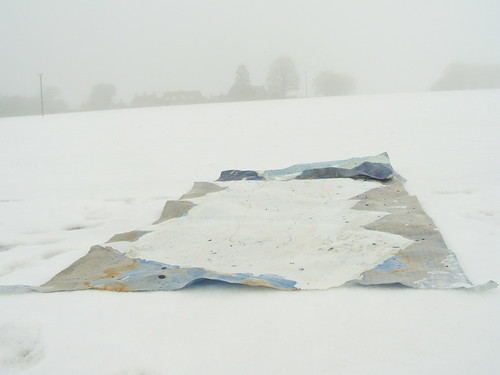 Drawing on snow by Russell Moreton