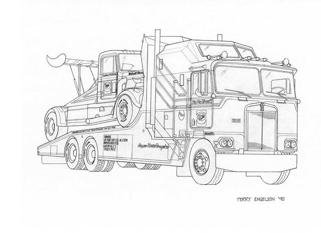 Semi Truck: How To Draw A Semi Truck