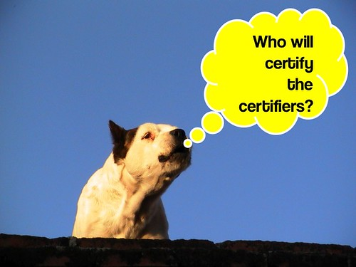 Who will certify the certifiers?