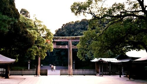 2001 Tokyo: Meiji shrine Torii Gate #6