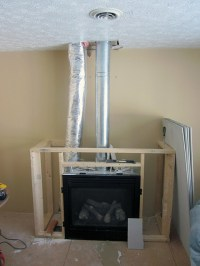 Gas Fireplace Framing | I had enough wood to get the ...