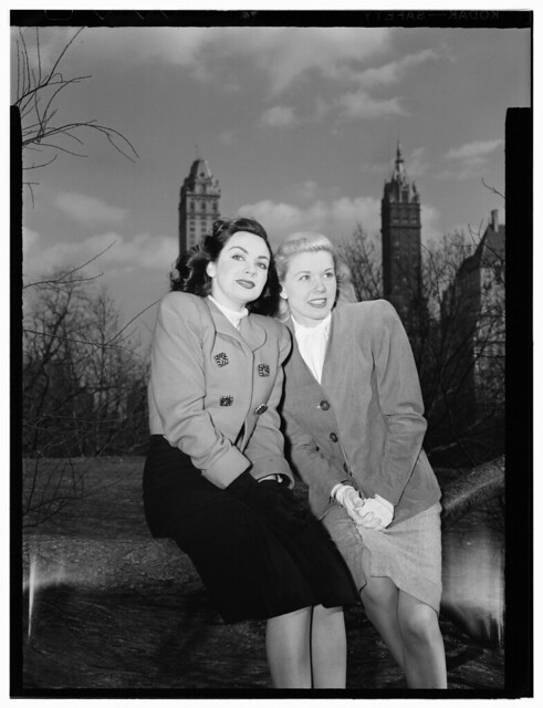 [Portrait of Doris Day and Kitty Kallen, Central Park, New York, N.Y., ca. Apr. 1947] (LOC)