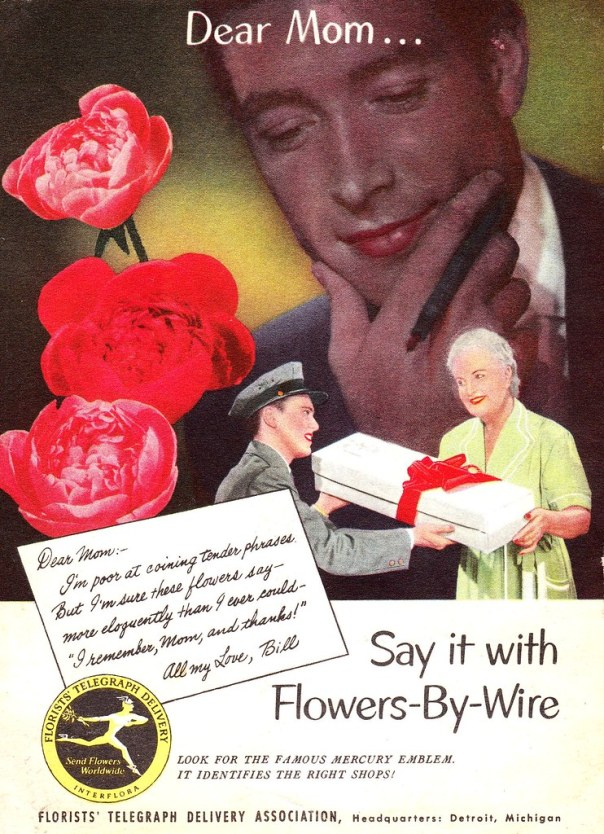 Florists' Telegraph Delivery Association - published in Coronet - May 1952