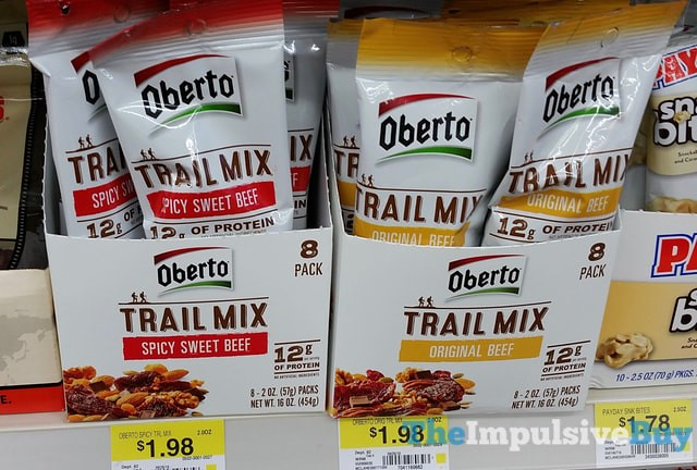 Oberto Beef Jerky Trail Mix (Original Beef and Spicy Sweet Beef)