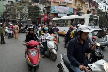 Straßenecke Hang Gai SMS-Fahrer