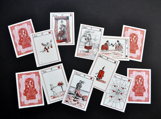 LA-TEE-DA Transformation Playing Cards. 2004