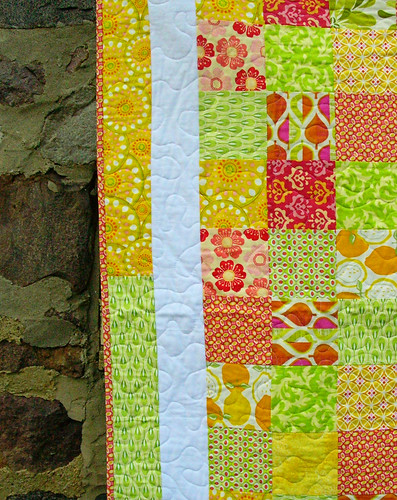 framed patchwork closeup