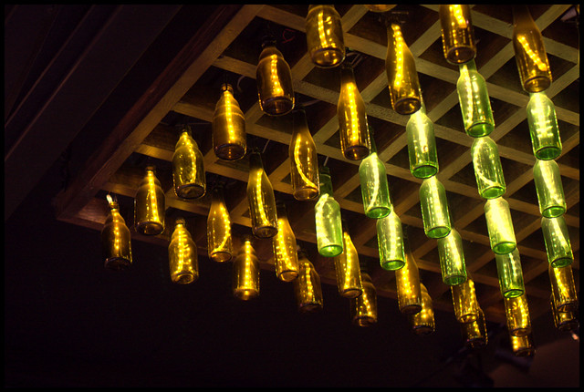 bottle ceiling decor