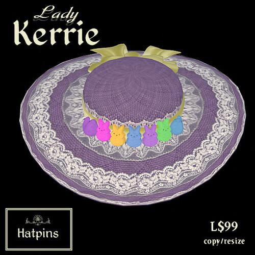 Hatpins - Lady Kerrie Hat Advert - Peeps