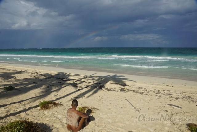 naturist 0004 Sian Kaan beach, Quintana Roo, Mexico