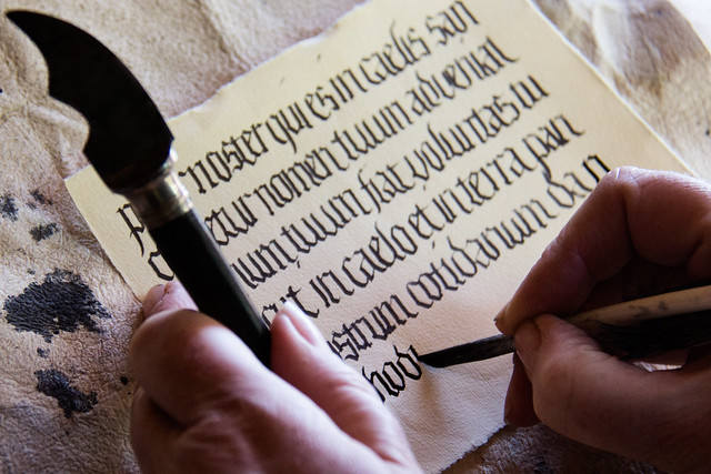 Photo:medieval writing By:hans s