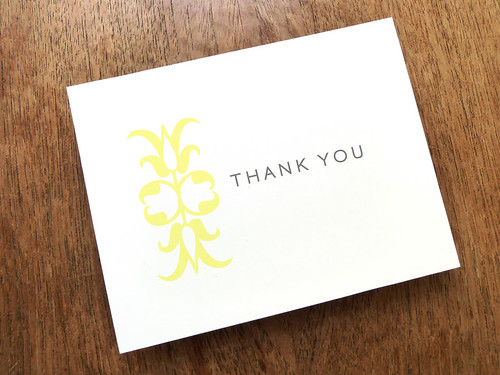 Classic Thank You Card Template - Ornament