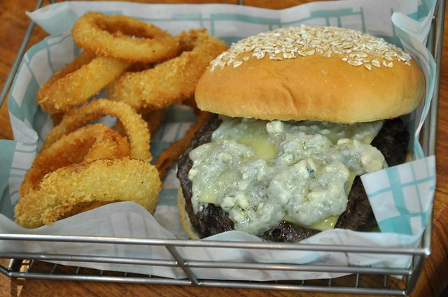 Brothers Black Angus Burger with Blue Cheese