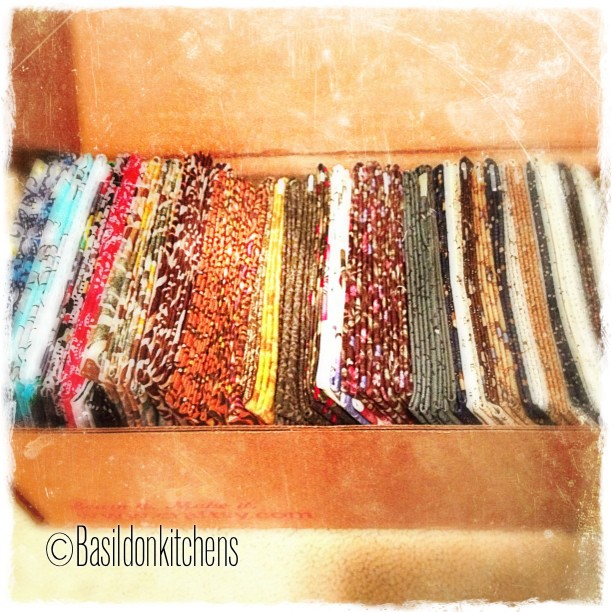 June 4 - guilty pleasure {a surprise box of 50 Fat Quarters from 'Craftsy'} #TitleFx #photoaday #quilting #fabric #happymail