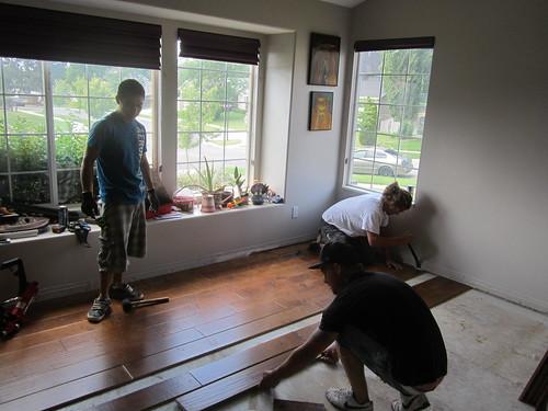 remodelacion piso living 3