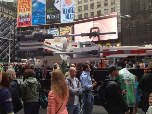 Lego X-Wing in Times Square