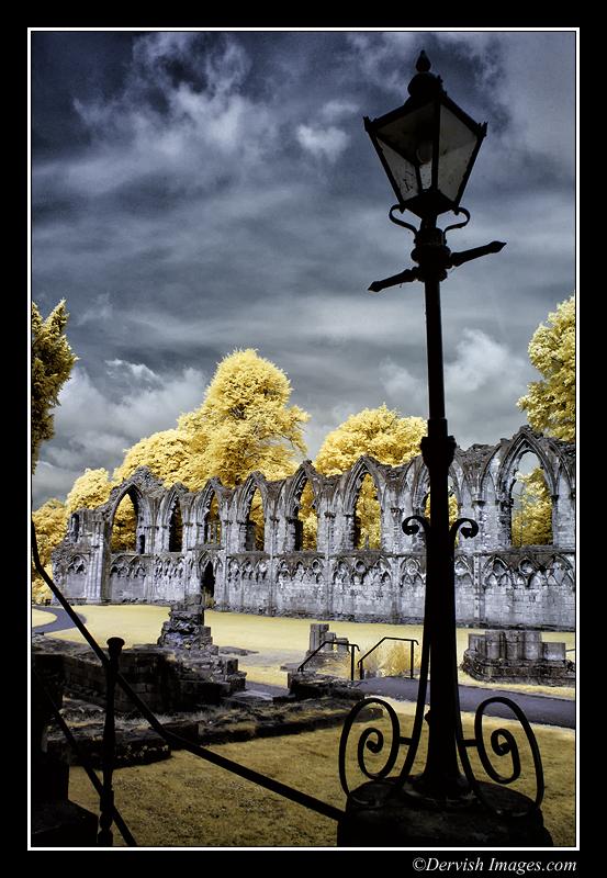 St Mary's Abbey York - False Colour